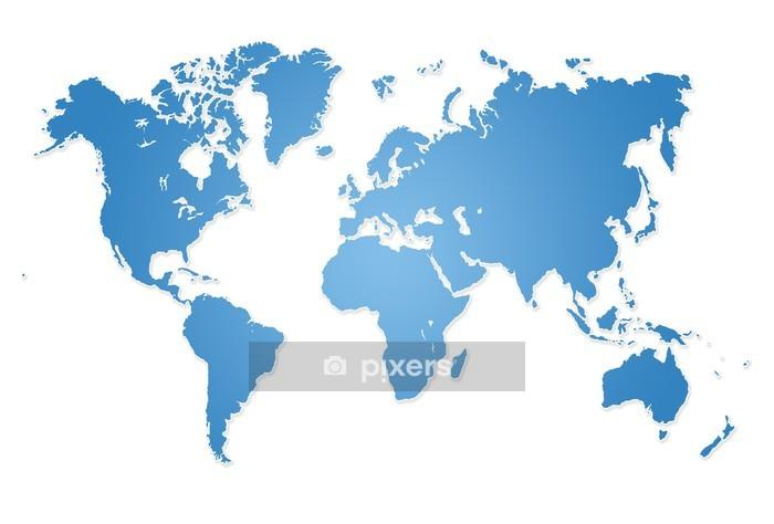 Vinilo para Pared Mapa del mundo Ilustración moderna - Vinilo para pared