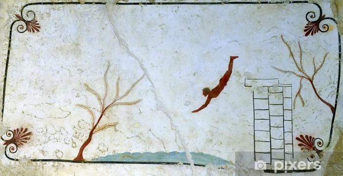 Ancient Greek Fresco in Paestum, Italy Vinyl Wall Mural - Other