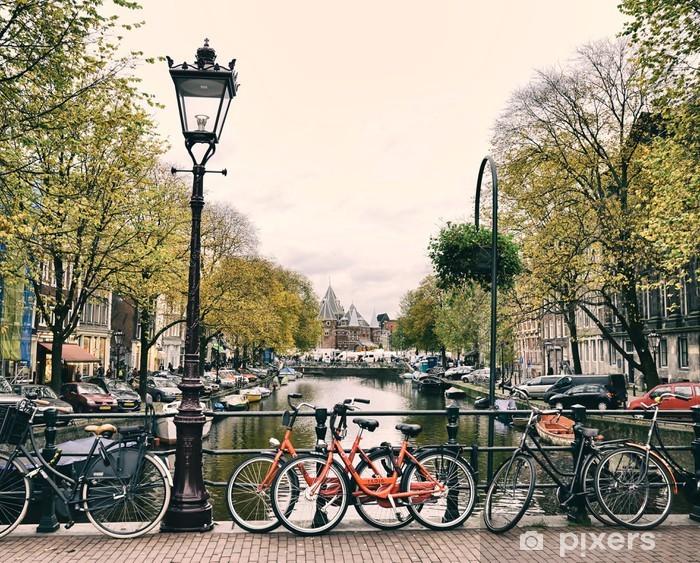 Fototapeta winylowa Amsterdam - Rowery