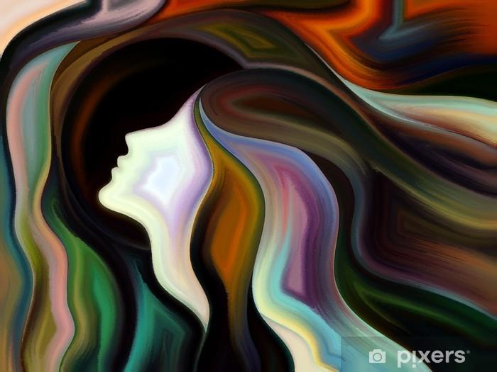 Vinyl-Fototapete Dance of Inner Farbe - Kunst und Gestaltung