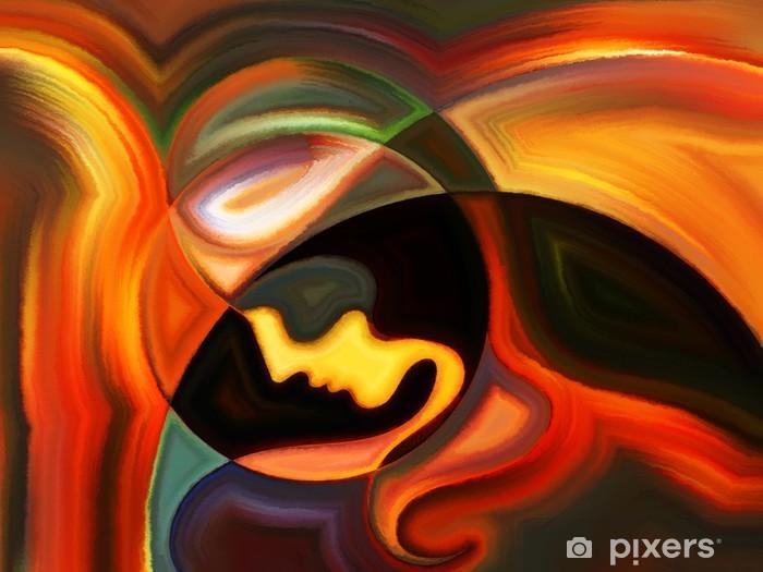 Vinyl Fotobehang Kleurrijke Inner Paint - Kunst en Creatie