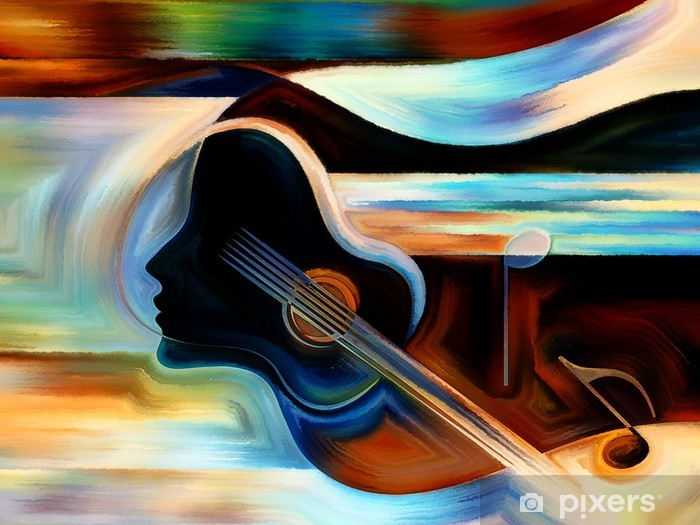 Fotomural Estándar El material de la Música - Temas