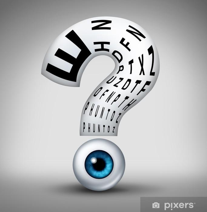 Fototapeta winylowa Pytania optometria - Zdrowie i medycyna