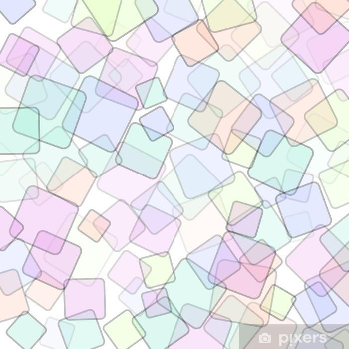 Pixerstick Sticker Abstracte vierkante geometrische kleurrijke achtergrond - Nationale Evenementen