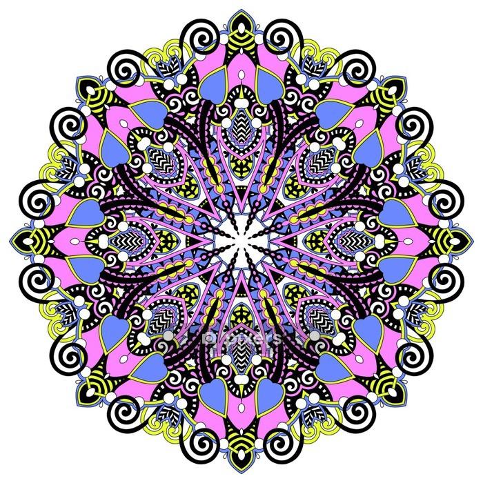 Adesivo da Parete Circle pizzo ornamento - Adesivo da parete