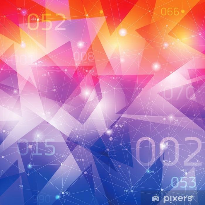 Vinilo para Nevera Fondo del espacio, superficies geométricas, líneas de puntos - Recursos gráficos