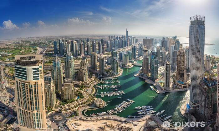 Papier peint vinyle DUBAI, Émirats Arabes Unis - 10 OCTOBRE: Les bâtiments modernes à Dubai Marina, Dubaï - Thèmes