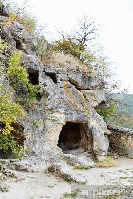 Vinylová fototapeta Horské jeskyně starověké město chufut kale - Vinylová fototapeta
