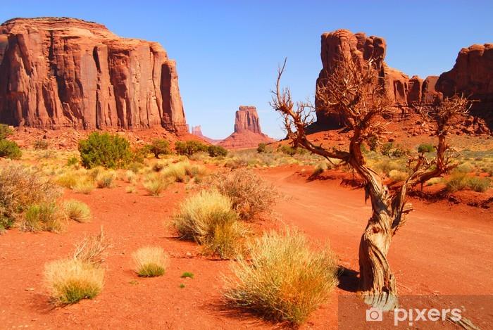 Fototapeta winylowa Duże formacje skalne w parku Monument Valley Navajo - Tematy