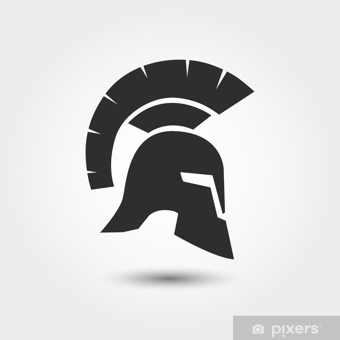 Papier peint vinyle Vector silhouette romaine ou casque grec - Bonheur