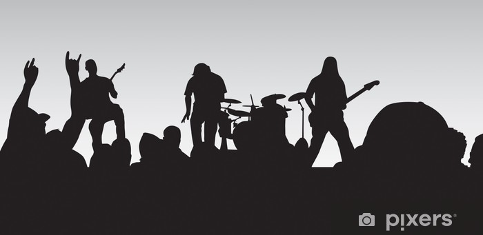 Fototapeta winylowa Koncert rockowy 4 - Rock
