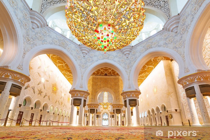 Sheikh Zayed Grand Mosque Interior In Abu Dhabi Uae Wall Mural Pixers We Live To Change