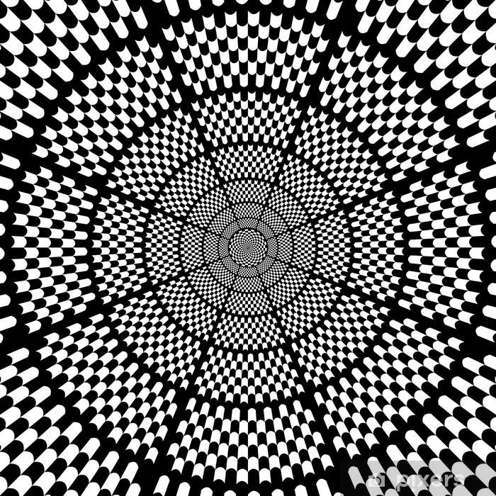 Sticker Pixerstick Vector illustration d'échecs fond noir et blanc 2 - Thèmes