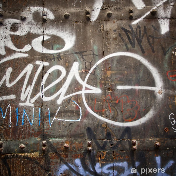 Fototapeta winylowa Skrajny bliska graffiti na drzwi z drewna - Sztuka i twórczość