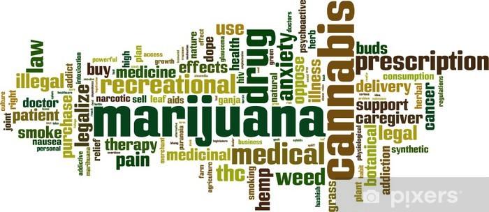 Fototapeta winylowa Marihuana Koncepcja cloud słowo. Ilustracji wektorowych - Nałogi
