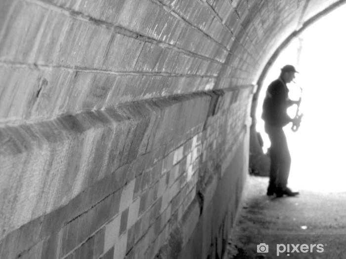 jazz man in new york Vinyl Wall Mural - Themes