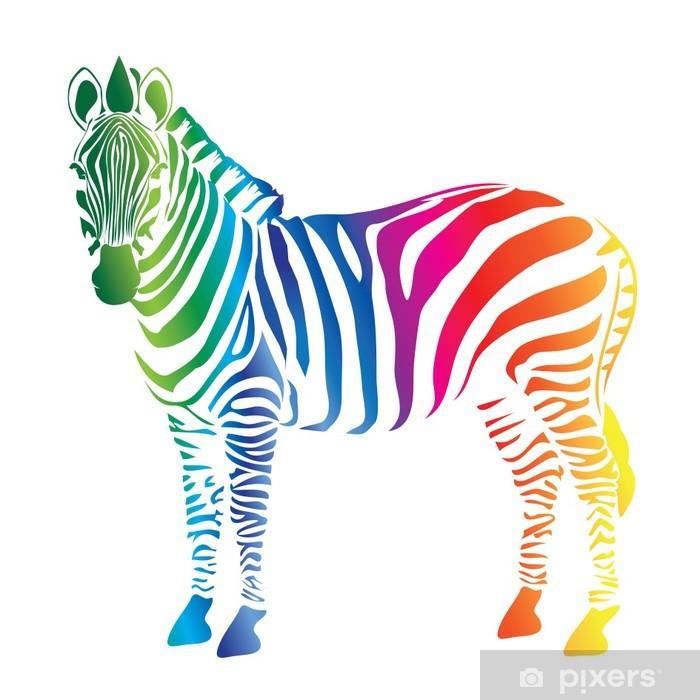 Carta da Parati in Vinile Tavolozza dei colori della zebra - Mammiferi