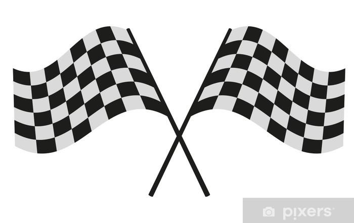 Fototapeta winylowa Flaga szachownicą wyścigowy - Znaki i symbole