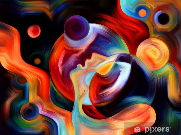 Vinyl Fotobehang Synergie van Inner Paint - Kunst en Creatie