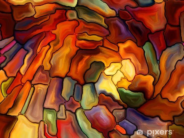 Vinyl Fotobehang Visualisatie van Digital Stained Glass - Wonderen der Natuur