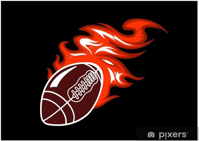 Fototapeta samoprzylepna Flaming piłkę do rugby - Football amerykański