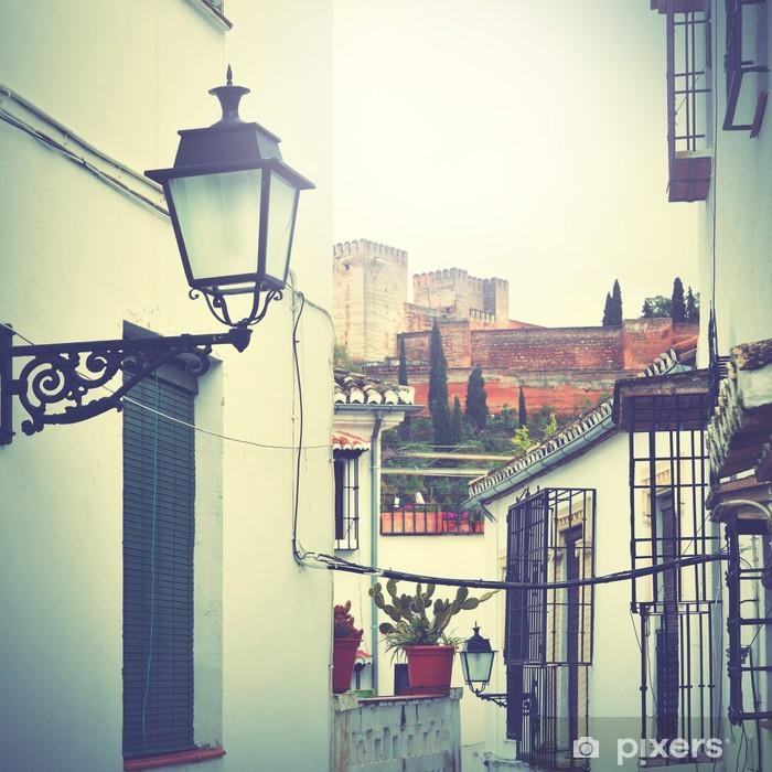 Poster Straße in Granada - Spanien