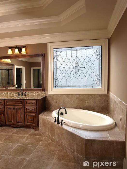 Fototapete Luxus-Badezimmer mit Buntglas