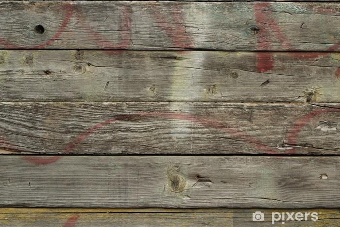 Vinyl-Fototapete Alten hölzernen Planken abstrakten Hintergrund - Texturen