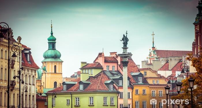 Vinilo Pixerstick Plaza de la Ciudad Vieja de Varsovia - Temas