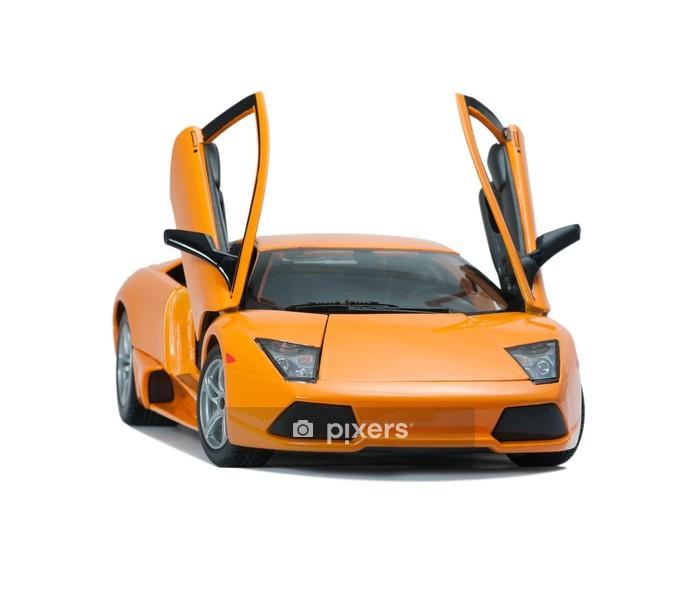 Muursticker Collectible toy model Lamborghini vooraanzicht - Thema's