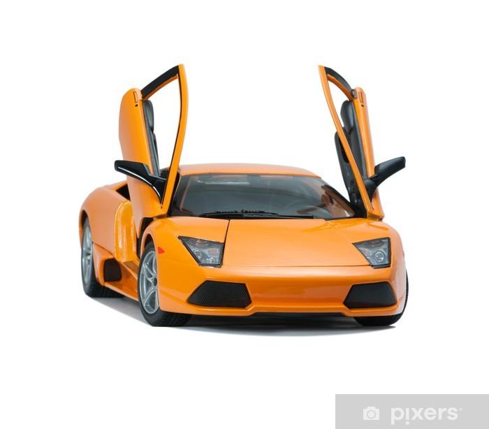 Vinil Duvar Resmi Tahsil oyuncak modeli Lamborghini önden görünüm -