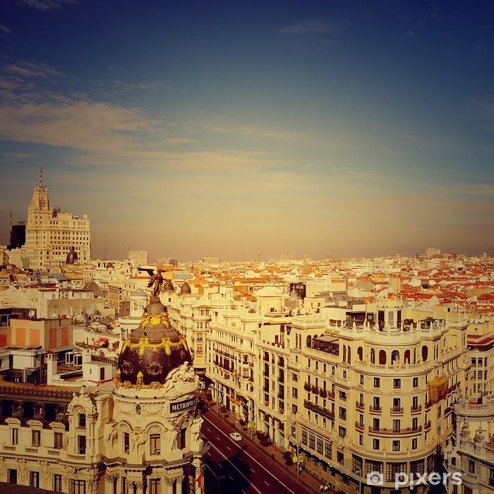 Gran Via, Madrid Pixerstick Sticker - Holidays