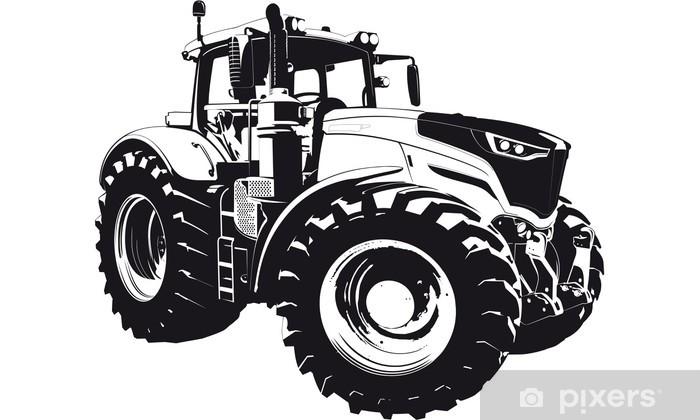 Papier peint vinyle Tracteur entrepreneurs agricoles - Sticker mural
