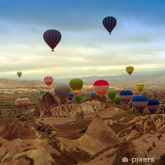 Papier peint vinyle Ballon à air à la montagne - Dans les airs