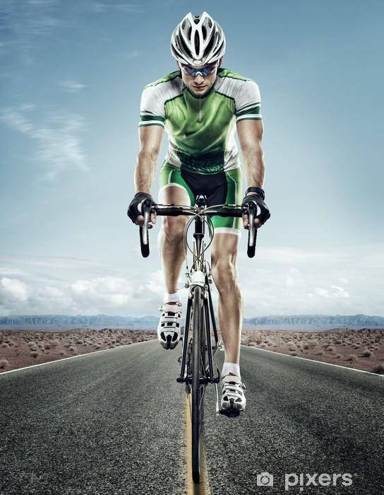 Papier peint vinyle Sport. Cycliste sur route. - Cyclisme