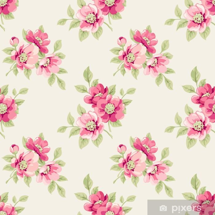 Papier peint vinyle Seamless floral - Styles