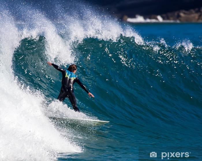 Sticker Pixerstick Surfiste - Sports individuels