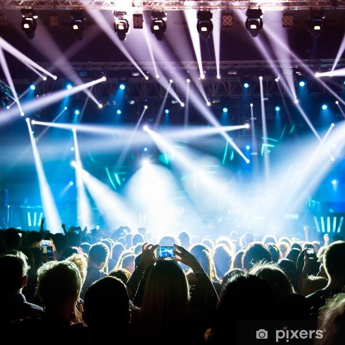 Vinyl Fotobehang Concert Crowd - Amusement