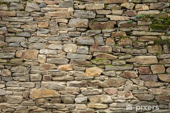 Sticker Pixerstick Stone wall texture - Industrie lourde