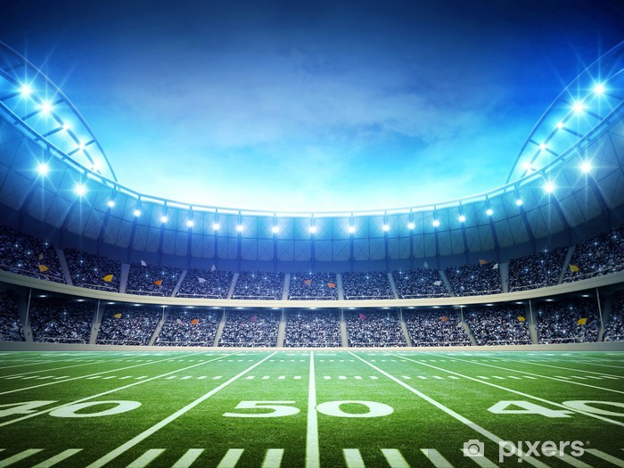 Fototapeta winylowa Światło amerykańskiego stadionu - Football amerykański