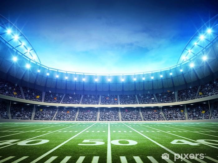 light of american stadium Pixerstick Sticker - American football