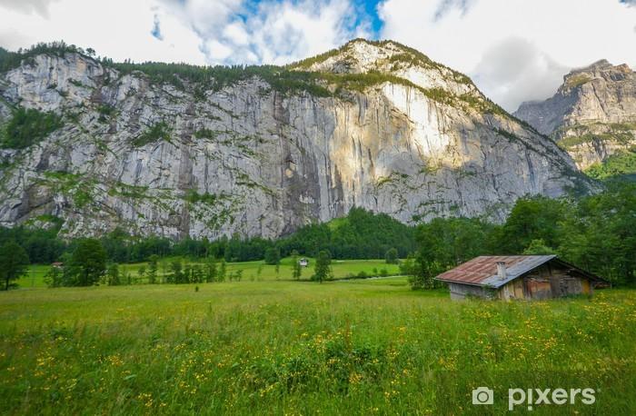 Vinyl-Fototapete Schöne Lauterbrunnental, Schweiz - Europa