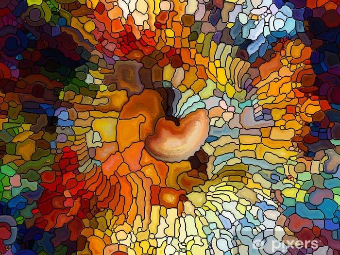 Vinyl Fotobehang Evolving Stained Glass - Kunst en Creatie