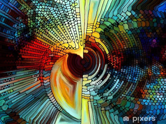 Vinyl Fotobehang Elementen van het gebrandschilderd glas - Kunst en Creatie