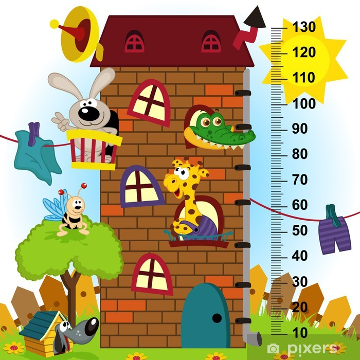 House Height Measure In Original Proportions 1 4 Eps