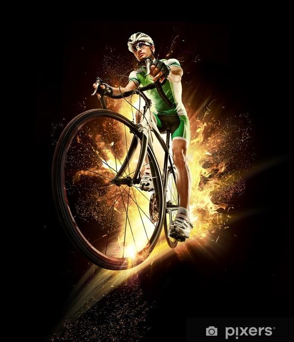 Papier peint vinyle Sport. Cycliste isolé - Cyclisme