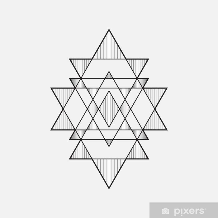 Naklejka Pixerstick Geometryczne kształty, projektowanie linii, trójkąt - Abstrakcja