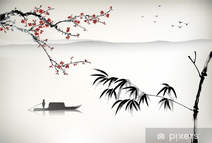 Chinese landscape painting Vinyl Wall Mural - Themes