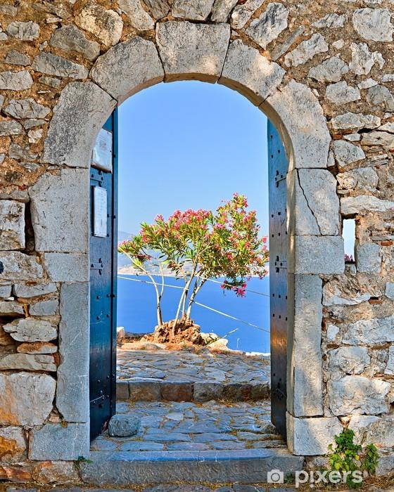 Gate in Palamidi fortress, Nafplio, Greece Pixerstick Sticker - Themes