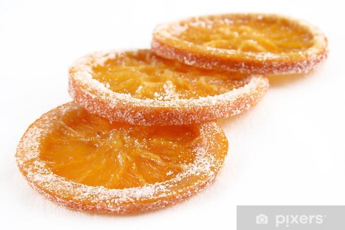 Fototapet av Vinyl Kanderad apelsinskivor - Frukt